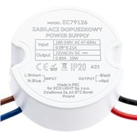 Eco Light Zasilacz LED do puszki 10W 12V IP20 EC79126